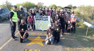 Laguna Paiva: pintaron una Estrella Amarillas en homenaje a Yesica Britos